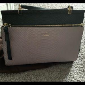 Late Spade Ostrich Handbag